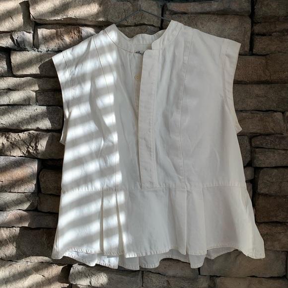 Madewell | cotton peplum blouse